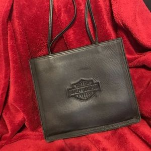 Authentic leather Harley Davidson tote. Like New